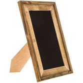 Rustic Framed Chalkboard With Easel